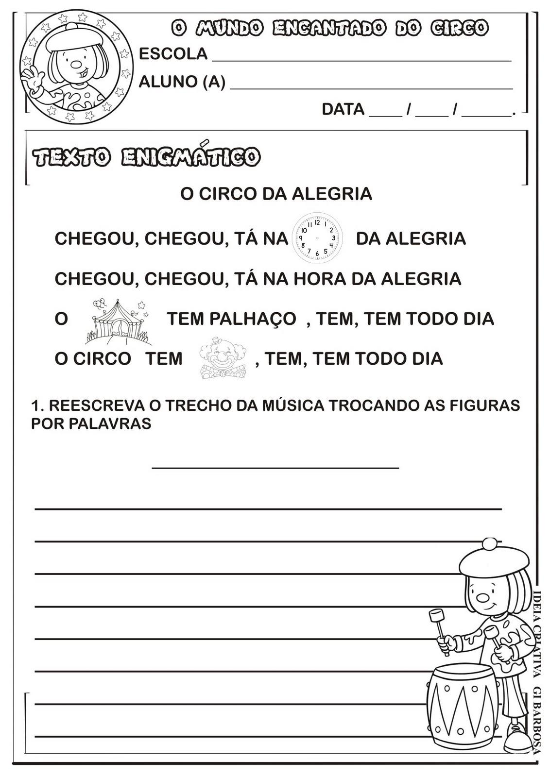 Texto Enigmático Projeto Circo 2012