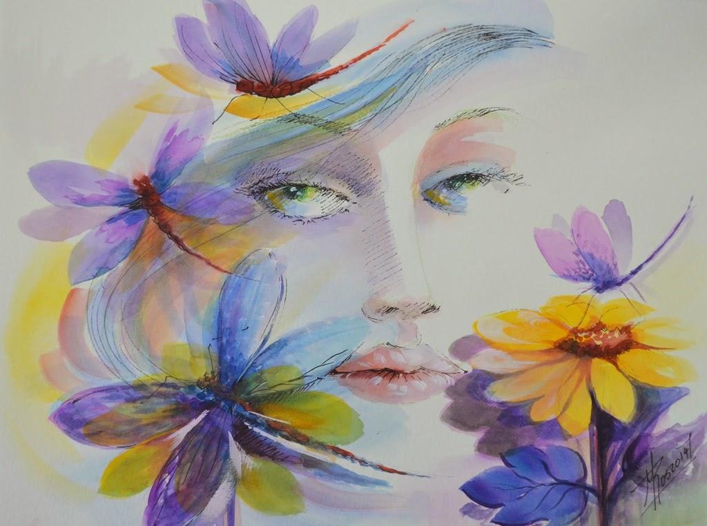 Cuadros con flores modernos pinturas modernas picture - Floreros modernos ...