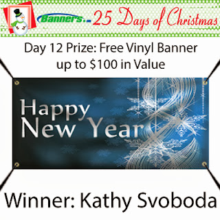 Banners.com 25 Days of Christmas Giveaway - Day 12 Winner