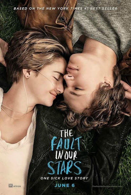 póster movie the fault in our stars, película bajo la misma estrella primera póster