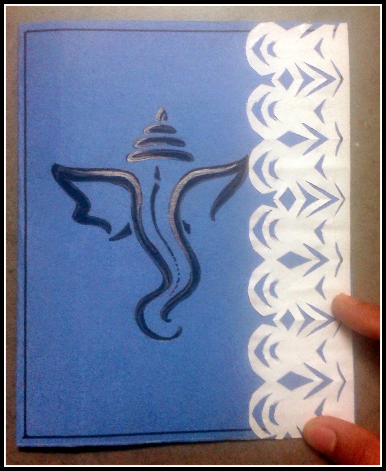 Handmade Ganesh Chaturthi Greeting Card Thestar