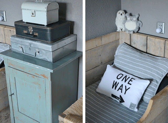 habitacion-infantil-nino-mesilla-decapada-maletas-antiguas-cama-palet