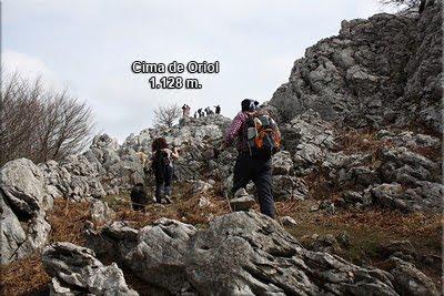 Los últimos metros para la cima de Oriol