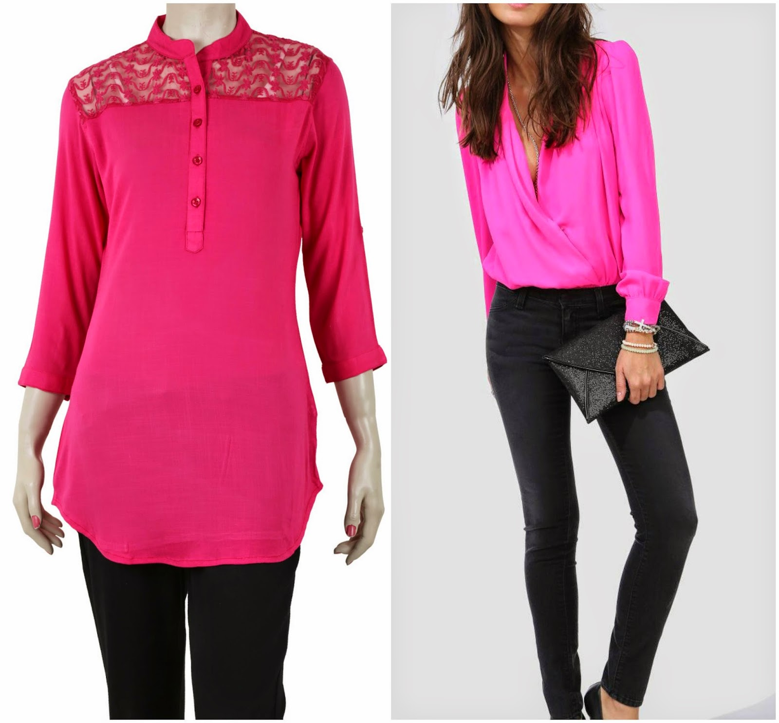 Kurti in pink, pink fashion, work wear in pink