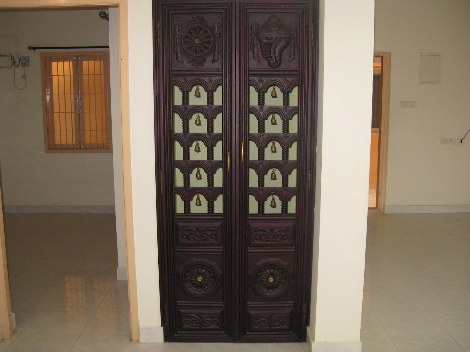 Pooja designs for your pooja doors for Room door design ideas