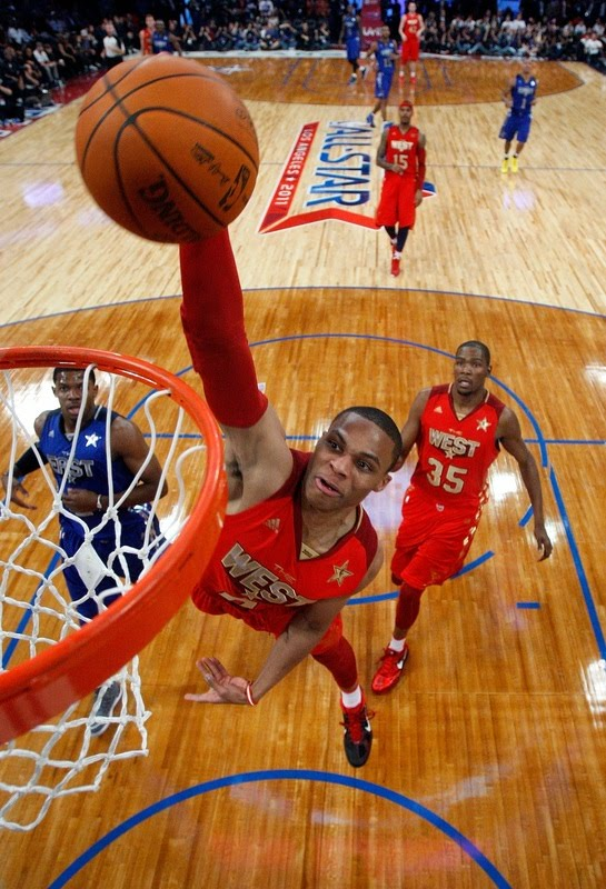 russell westbrook dunking. Russell Westbrook One-Hand