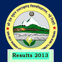 Sridev Suman Uttarakhand University Results of various courses 2013