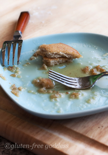 Tender and fluffy gluten-free pancakes...now a memory...