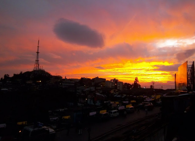 Sunset at Kurseong