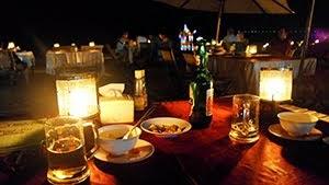 Fish restaurant on the beach of Jimbaran