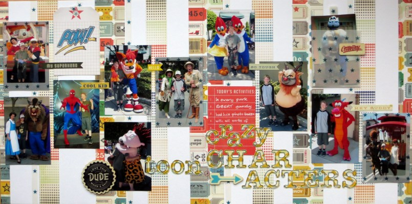 Jimjams - Layout - Crazy Characters DLO - for SJ Crafts