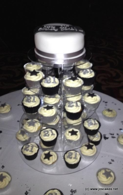 Jos Cakes Black And Silver 21st Birthday Cupcakes