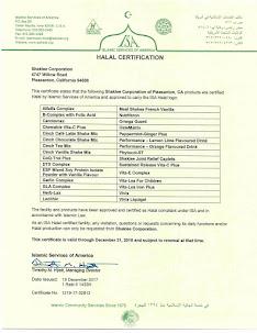 Sijil Halal 2018