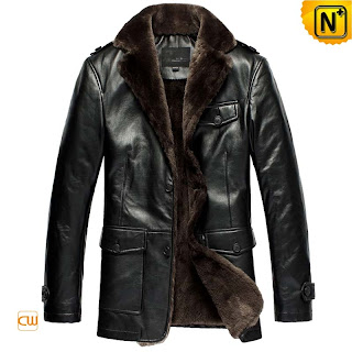 black sheepskin jacket for men