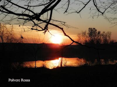 tramonto sul lago ,rifeso