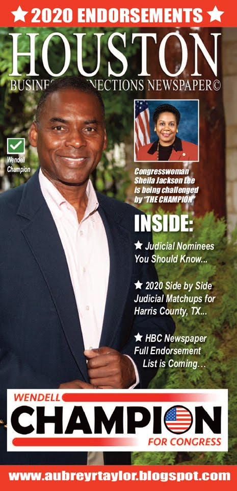 Wendell Champion Values Your Vote Prayers and Support on Tuesday, November 3, 2020