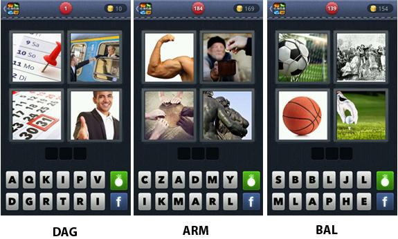 vier plaatjes een woord cheat antwoord