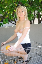 Alison Angel gets naked in public