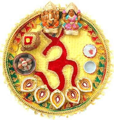 Redirecting for Aarti dish decoration