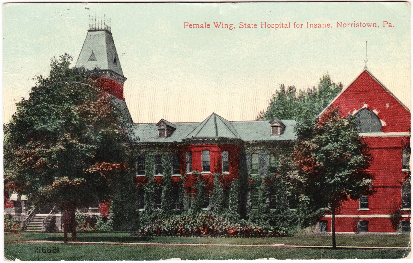 Papergreat: 1916 postcard from Norristown's State Hospital for Insane