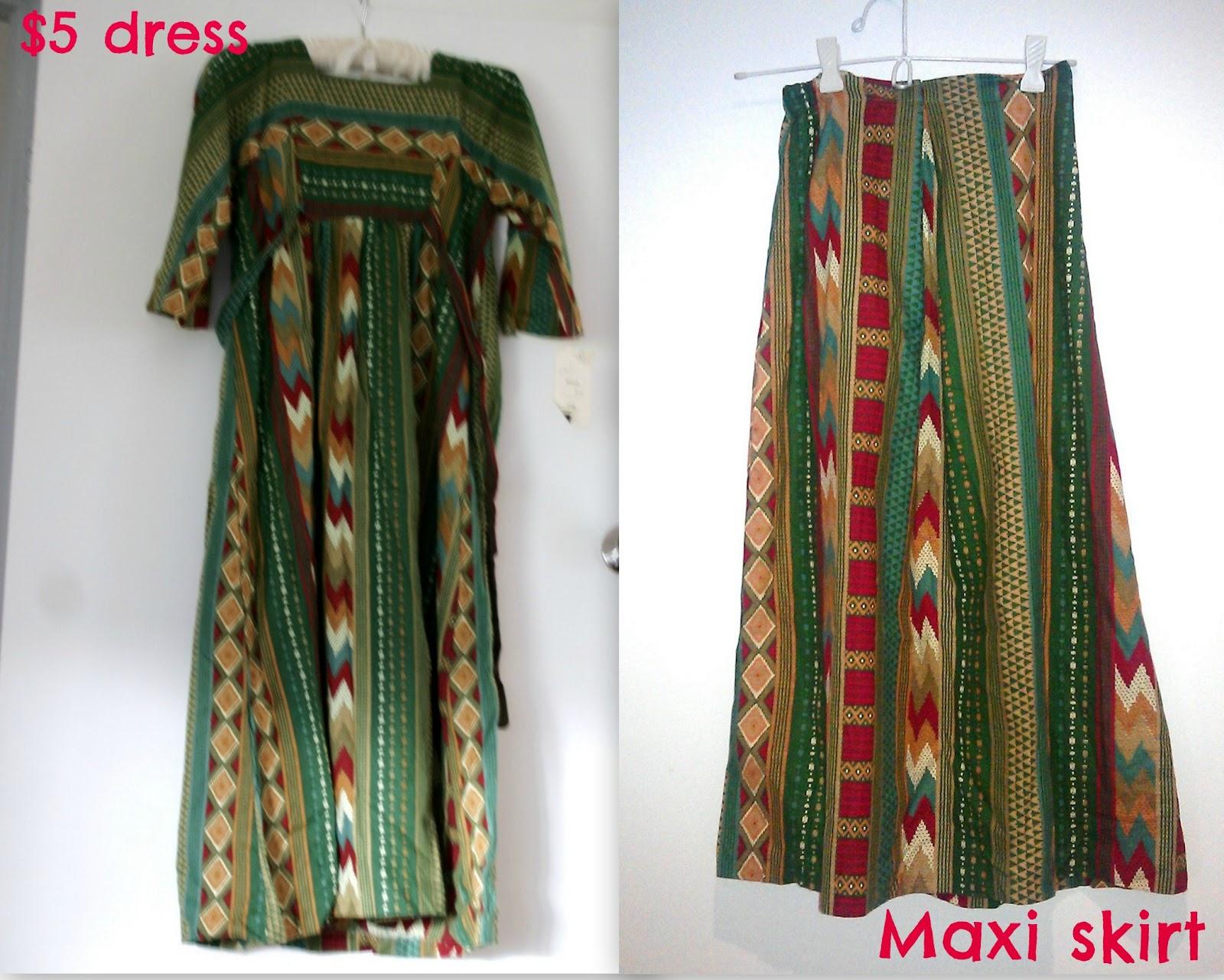 Refashion maxi dress