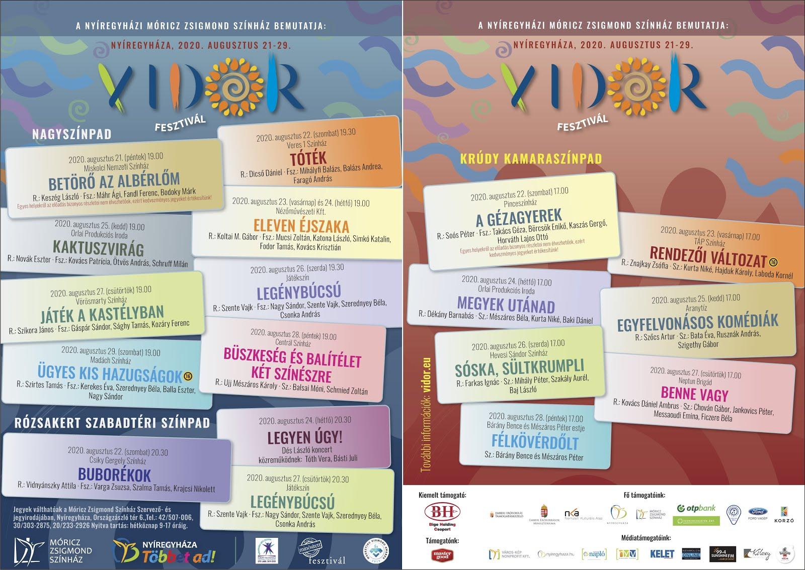 VIDOR Fesztivál 2020
