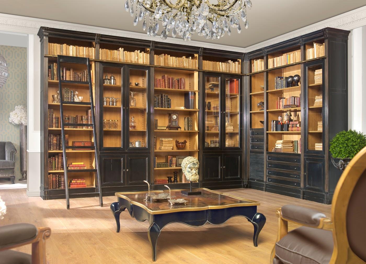 Celeiro do m vel grandes estantes para escrit rio o - Decorar salon clasico ...