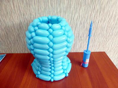 корзина - ваза для цветов из воздушных шаров (ШДМ)