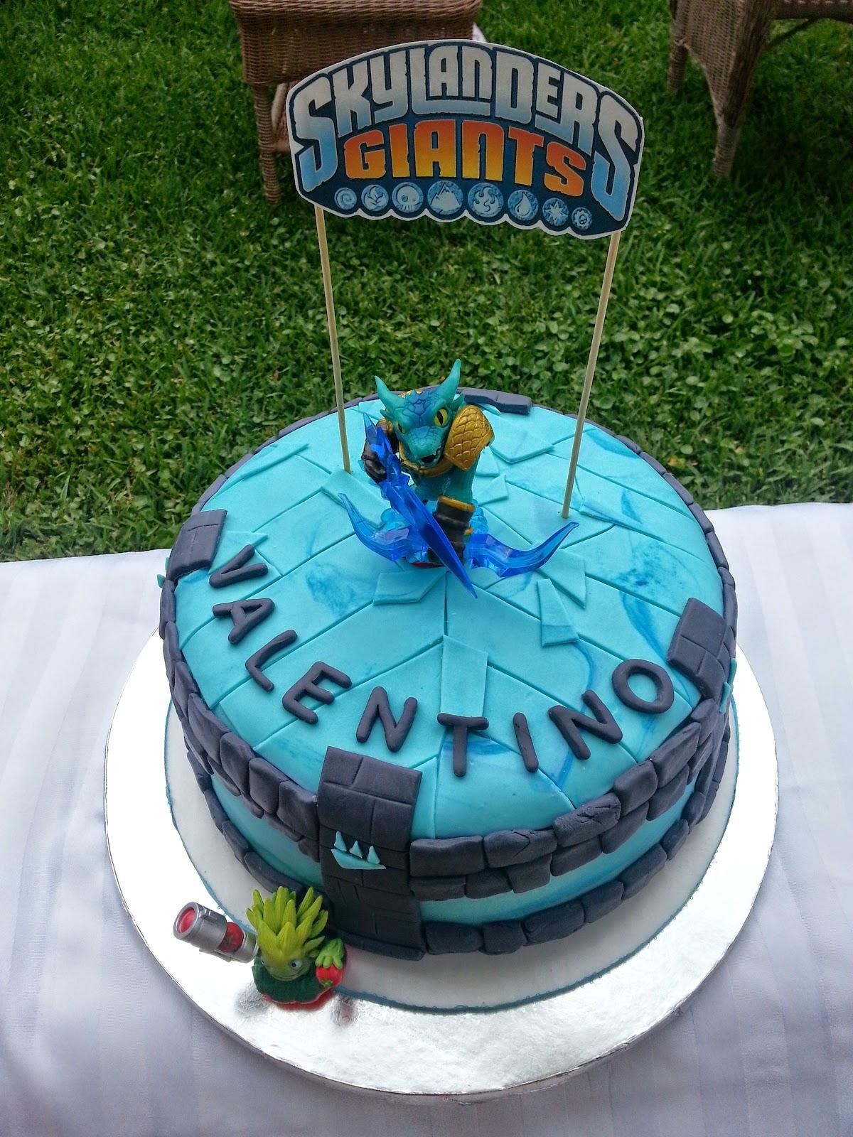 Nanas Theme Party Skylanders Giantsrthday Cake