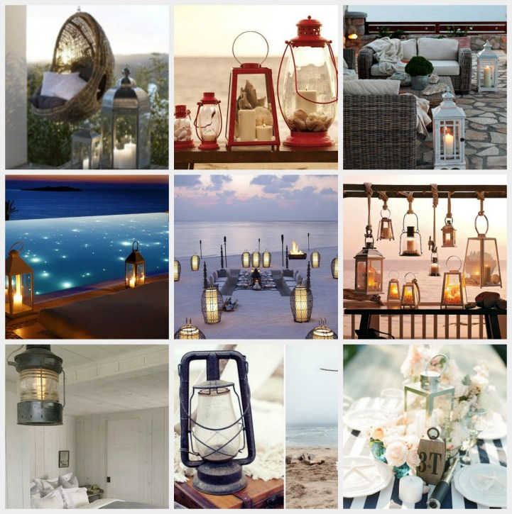 Decorating with coastal lanterns