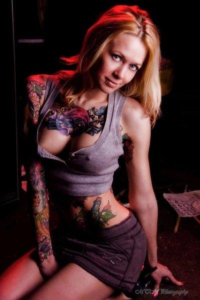 Tattooed bitch онлайн порно