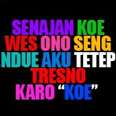 Artikel tentang Kumpulan Kata Cinta Lucu Bahasa Jawa hanya ada di