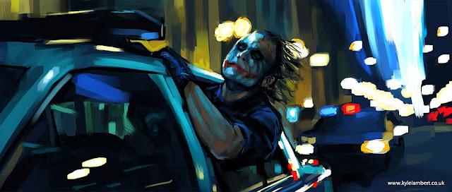 Джокер пальцем на планшете