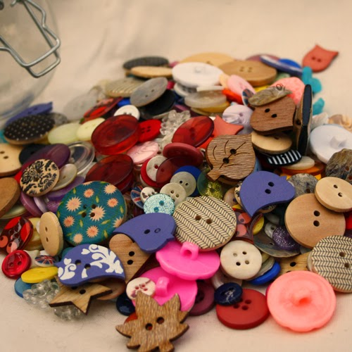 collection of buttons
