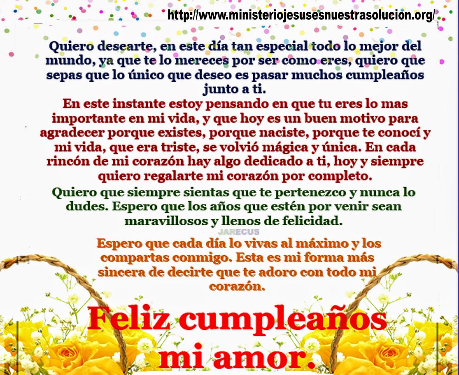 poemas de feliz cumpleaños mi amor