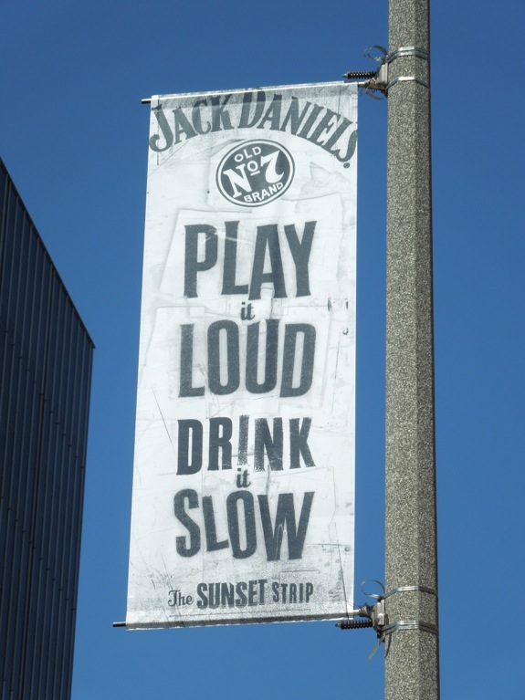 Jack Daniels Sunset Strip ad banner