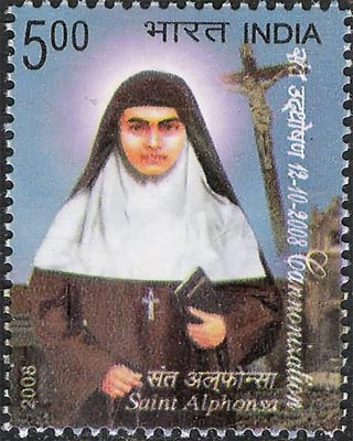 Stamp for Saint Alphonsa