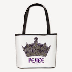 NEW!! Peace Crown Bucket Bag