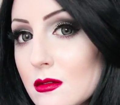 Monticia Addams Halloween Makeup Tutorial