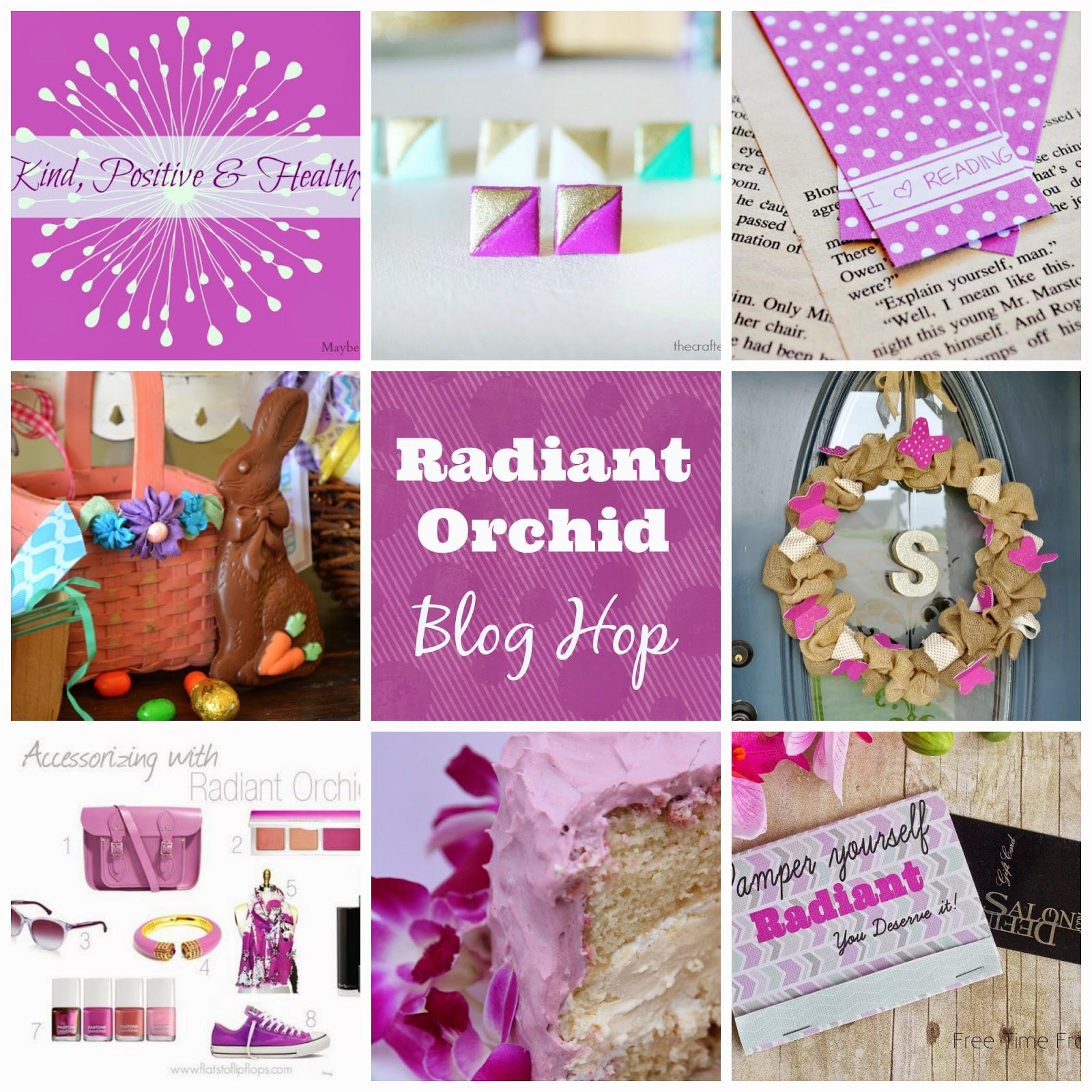 radiant orchid blog hop www.freetimefrolics.com #diy