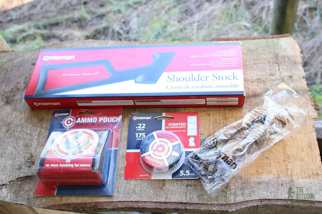 Crosman 1322 Air Pistol - Shooter's Kit Contents