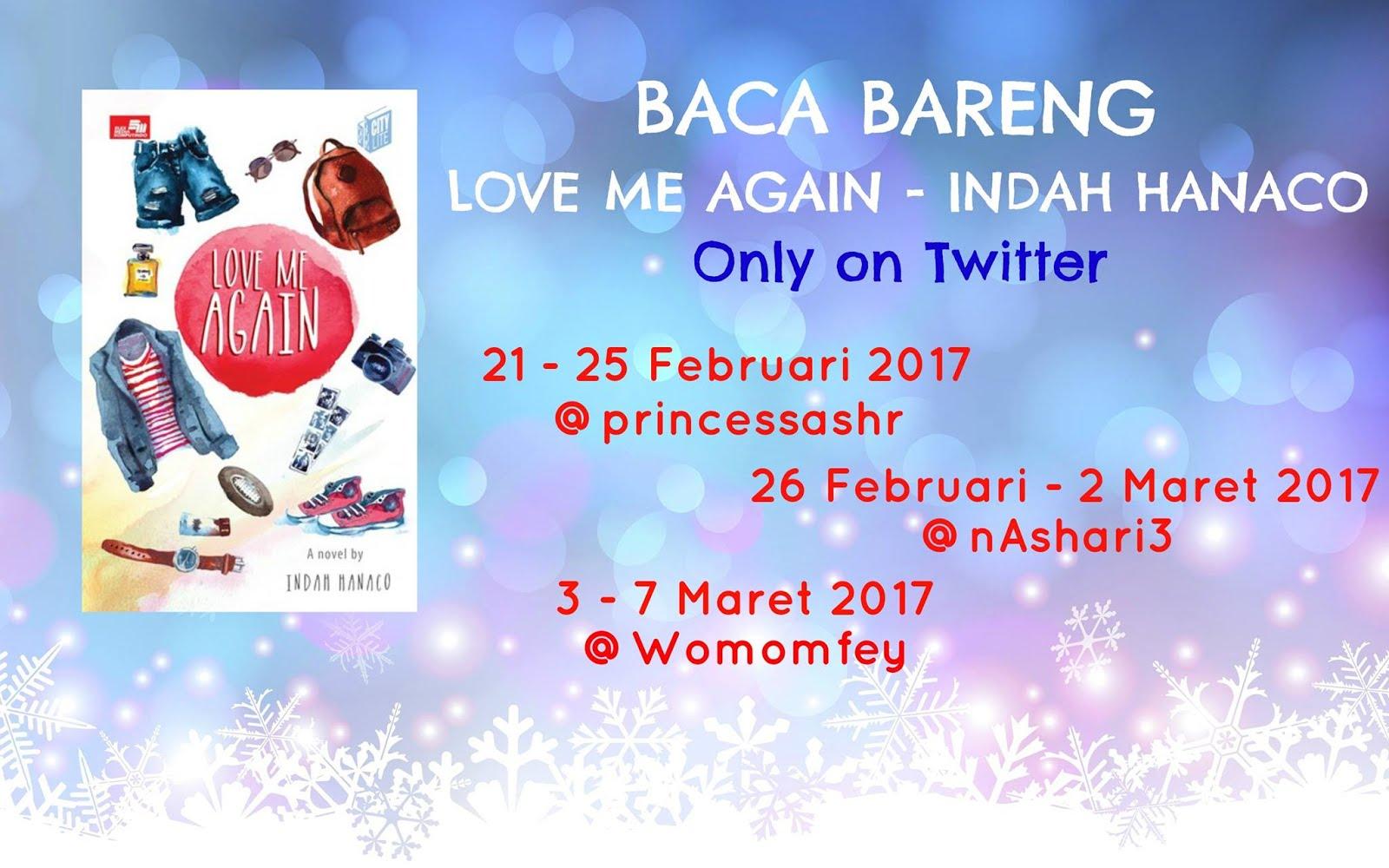 Baca Bareng #LoveMeAgain Indah Hanaco