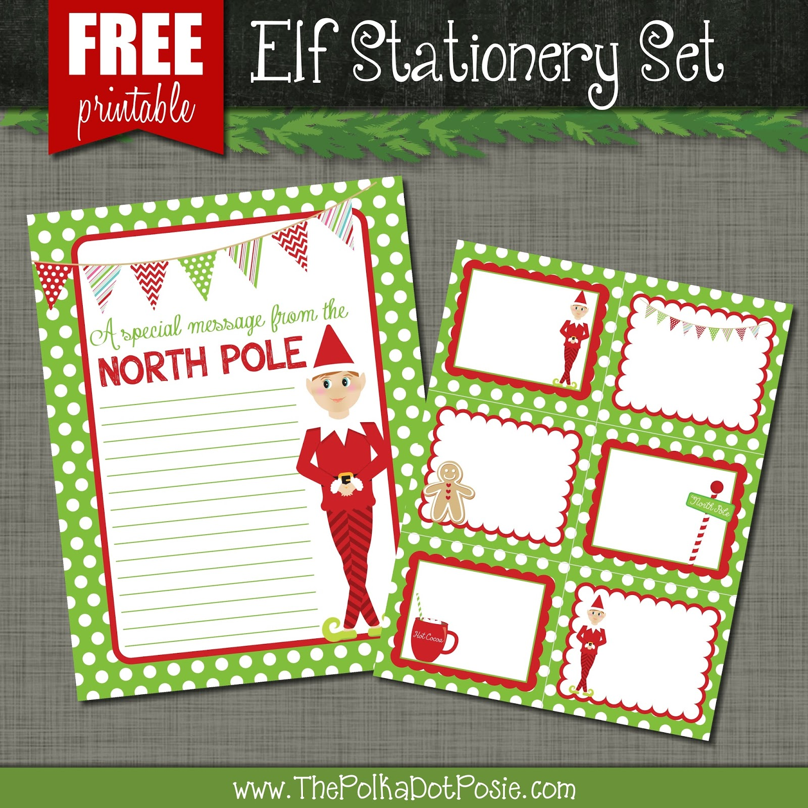 Elf On The Shelf Printable Stationary The polka dot posie: free ...