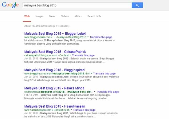 Pakar SEO Dalam Kontest SEO Malaysia Best Blog 2015
