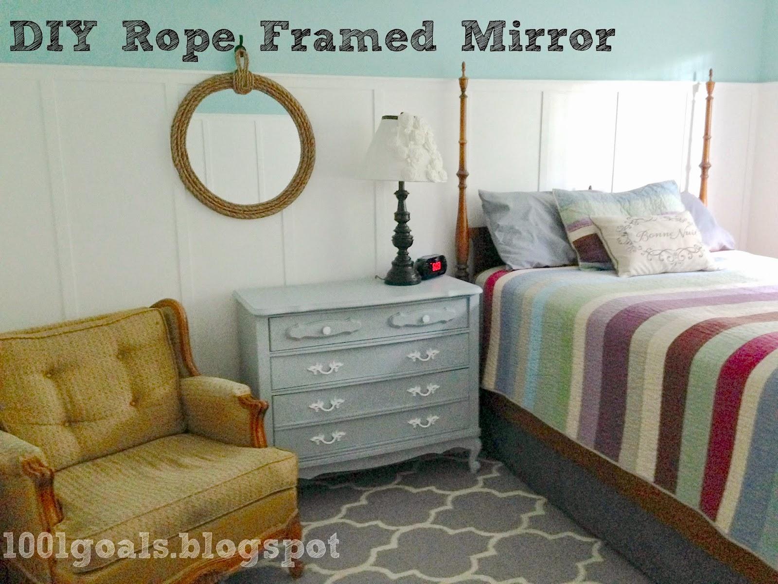 DIY Rope Framed Mirror