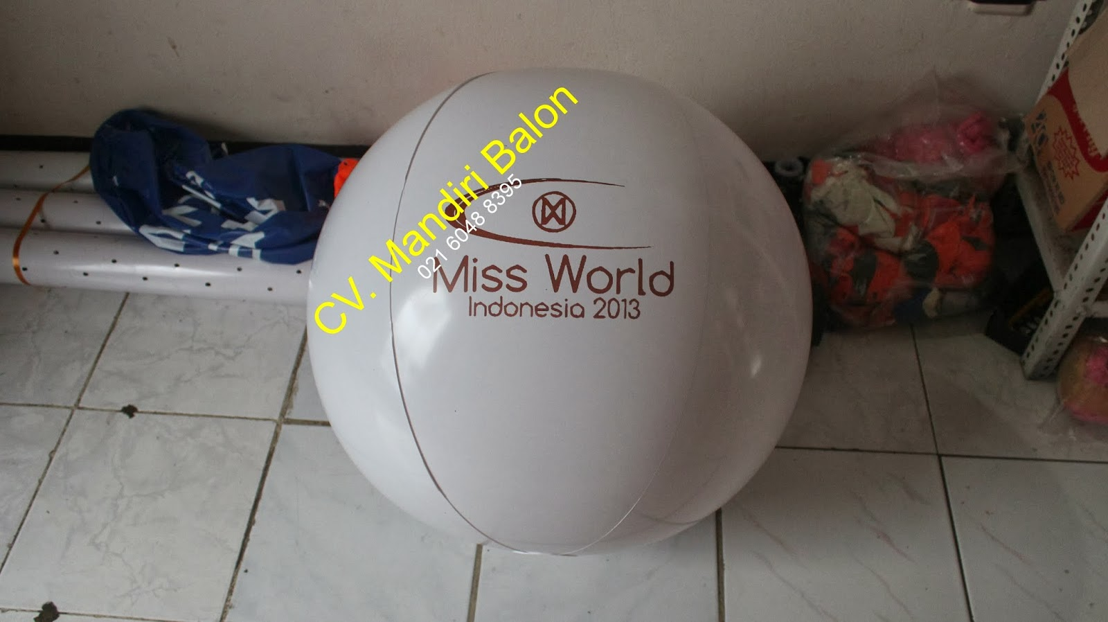 BALON PANTAI MISS WORLD