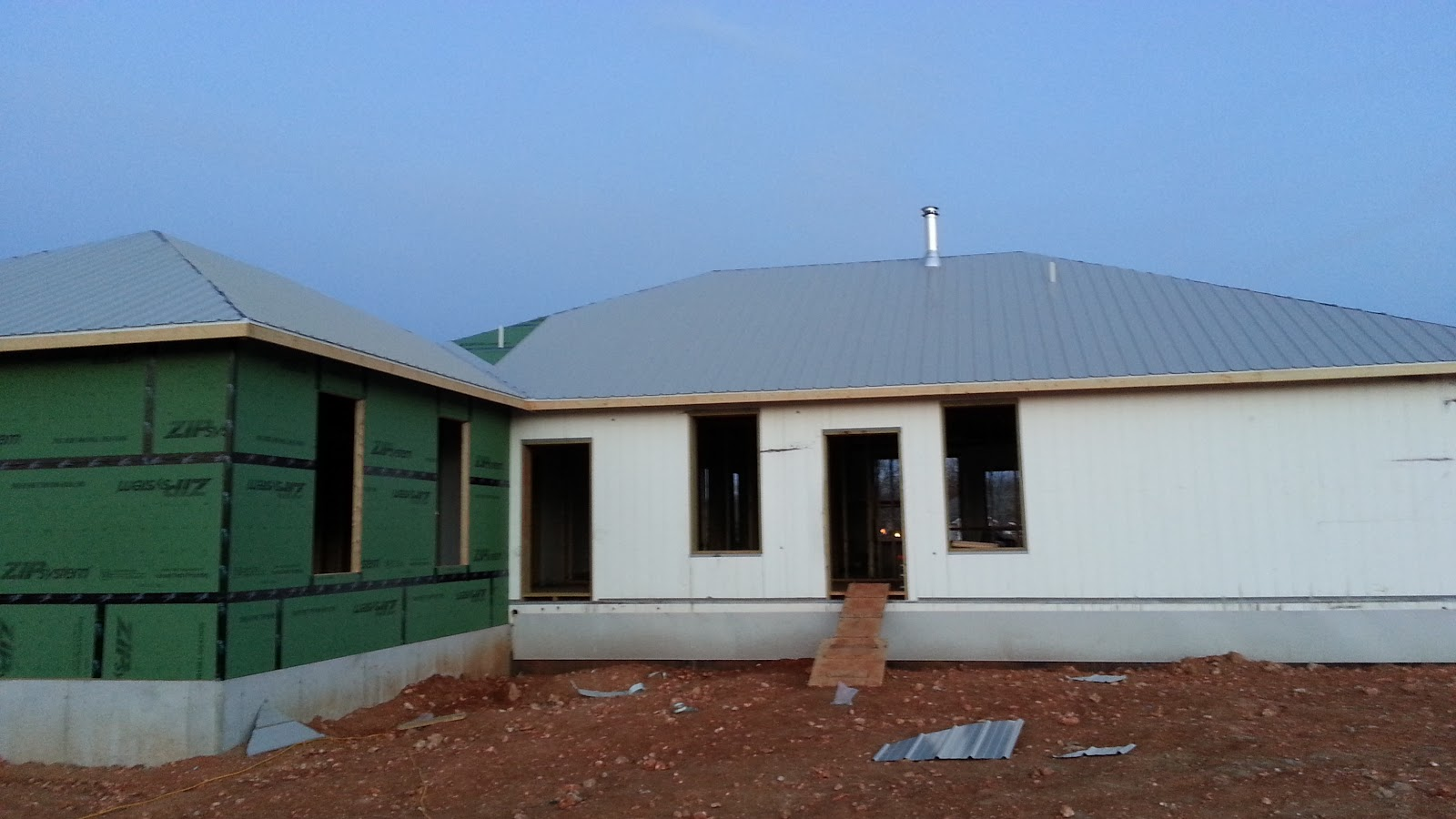 Insulated concrete forms tf systems house the metal roof for Icf concrete roof
