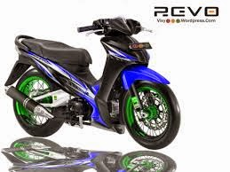 variasi modifikasi motor honda revo fit airbrush