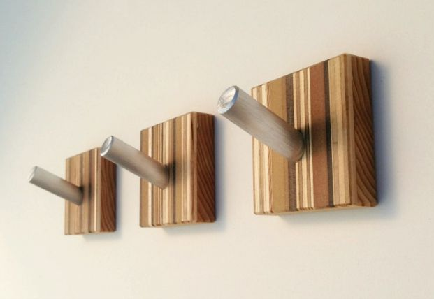 wood and metal coat hooks