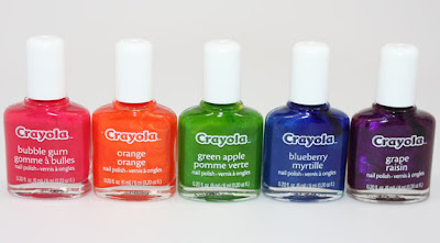 Crayola Scented Nail Polish Swatches